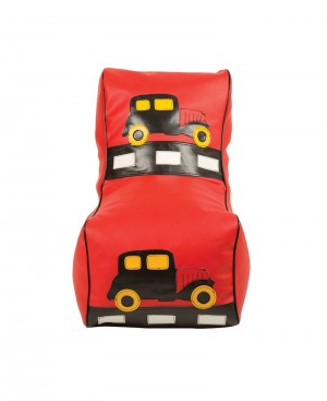 Faux Leather Car design bean chair for Boys