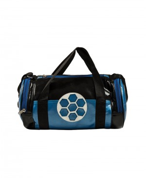 Drum Shape gym bag with football patch