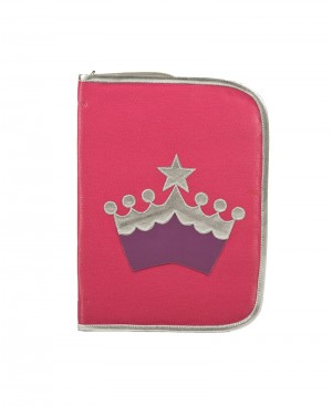 Faux Leather Crown Folder