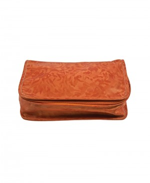 Faux leather jewellery pouch
