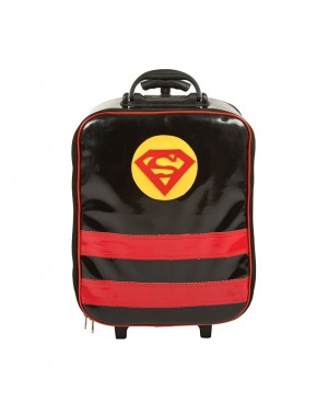 Suit Case With Trolley Super Man Design
