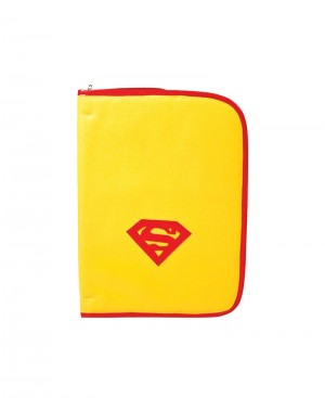 Faux Leather Superman Folder