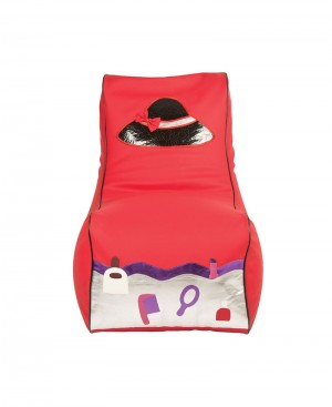 Faux Leather Hat & Cosmetic design bean chair