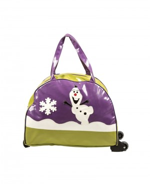 Frozen Design Purple N Green Trolley Bag