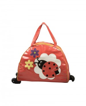 Lady Bird Design Red N Yellow Trolley Bag