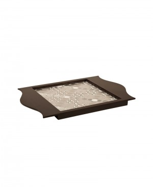 Faux Leather Wooden Tray