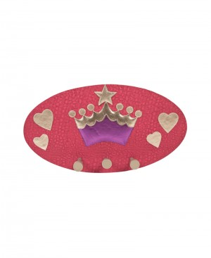 Multi Purpose Art Leather Hanging Board with Crown Patch