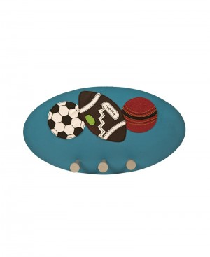 Multi Purpose Art Leather Hanging Board with Balls Patch
